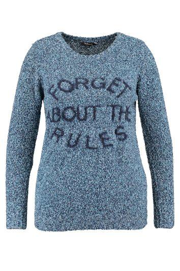 Pullover mit eingestrickter Aufschrift