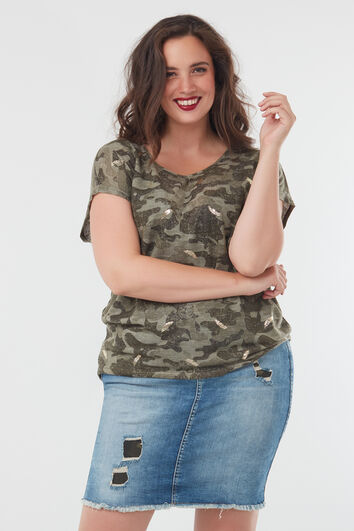 Shirt mit Camouflage-Muster