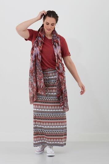 Schal mit Ethno-Print