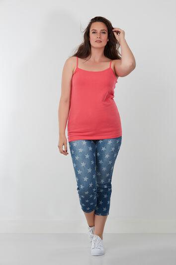 Capri-Jeans mit Sternchen-Print