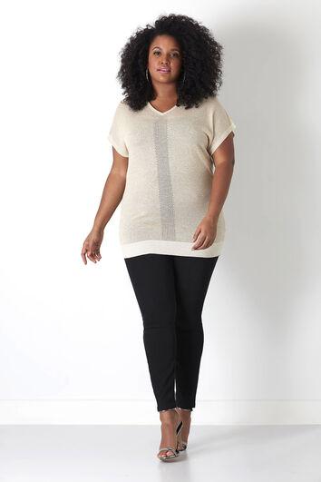 Eleganter Pullover mit V-Ausschnitt