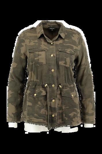 Militärjacke mit Camouflage-Muster