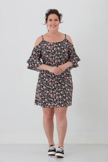 Kleid mit offener Schulterpartie