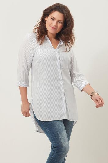 Lange Bluse mit Streifenmuster