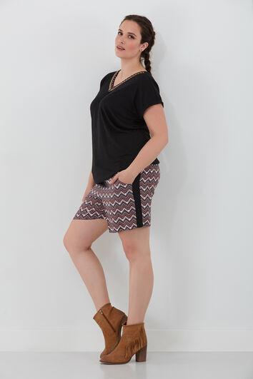 Shorts mit Ethno-Print