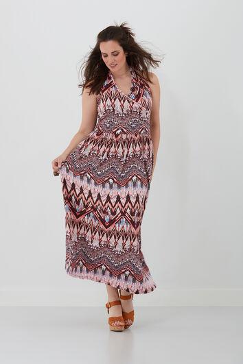 Neckholder-Kleid mit Ethno-Print