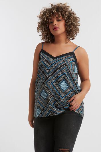 Ärmellose Bluse mit Print