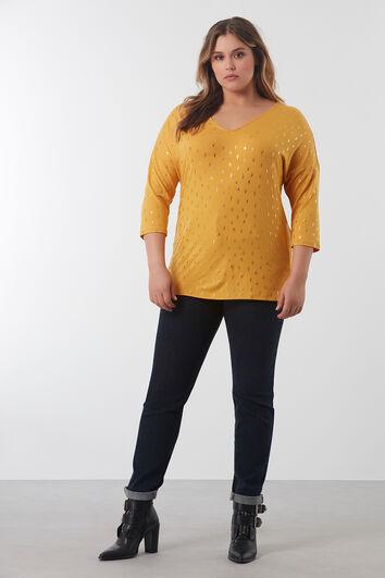 Sweatshirt mit Ärmeln in Dreiviertellänge