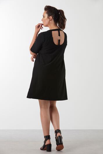 Kleid mit Metallring-Verzierung
