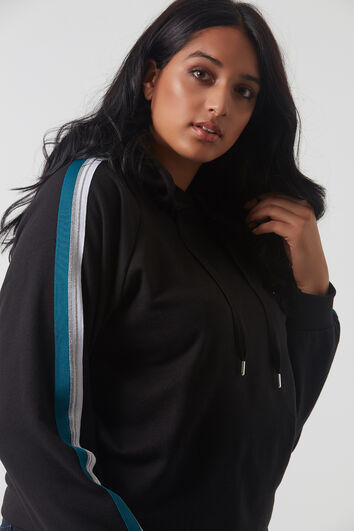 Sweatshirt mit sportivem Streifen