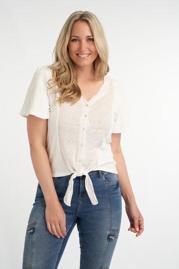 Bluse mit Knotenelement