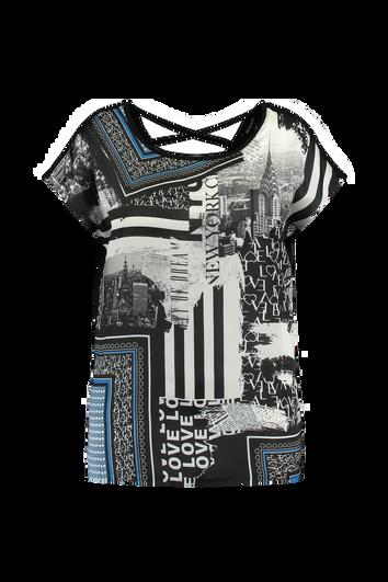 T-Shirt mit Print-Einsatz