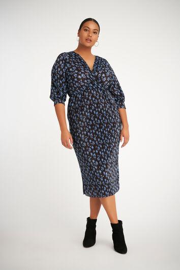 Langes Plissee-Kleid