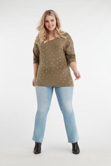 Flared-Leg-Jeans mit hohem Bund