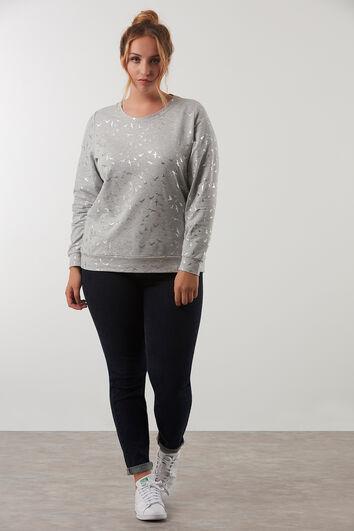 Sweatshirt mit Allover-Print