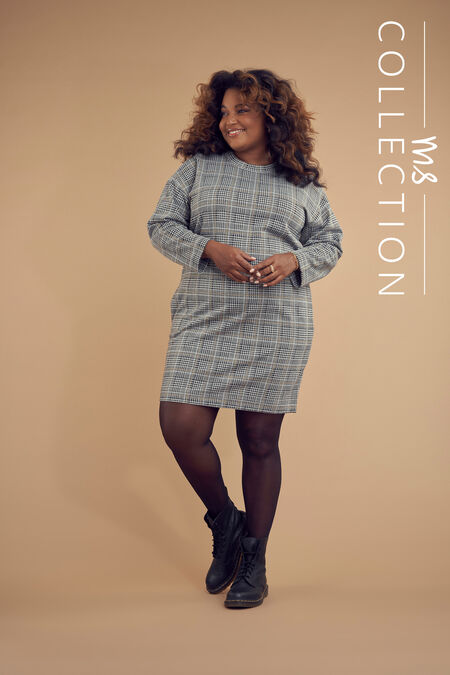 Sweatshirt-Kleid mit Print