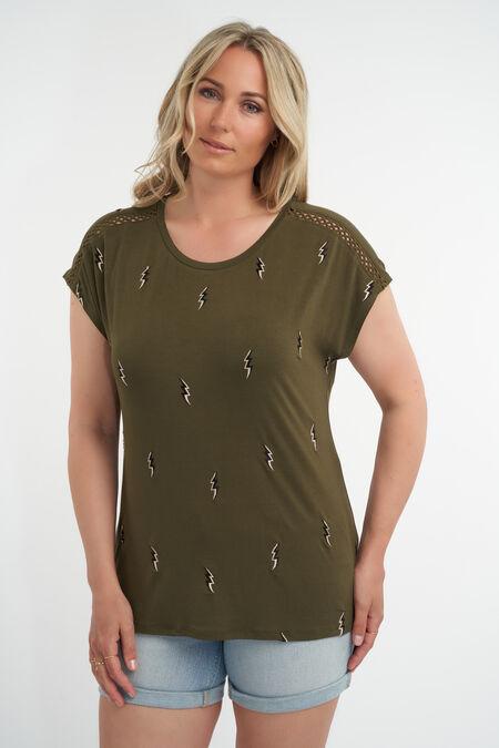 T-Shirt mit gesticktem Print