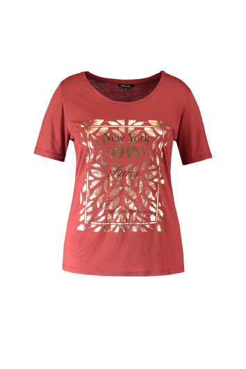T-Shirt mit Folien-Print