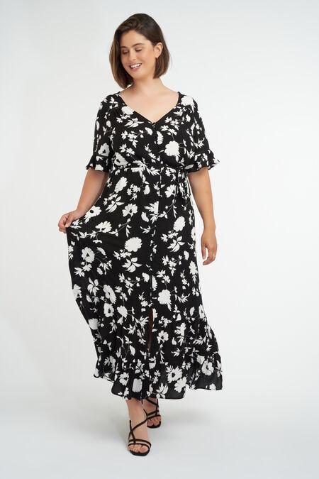 Langes Kleid mit Print