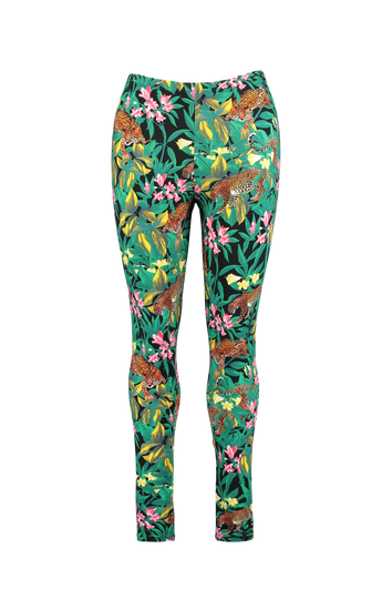 Leggings mit Dschungel-Print