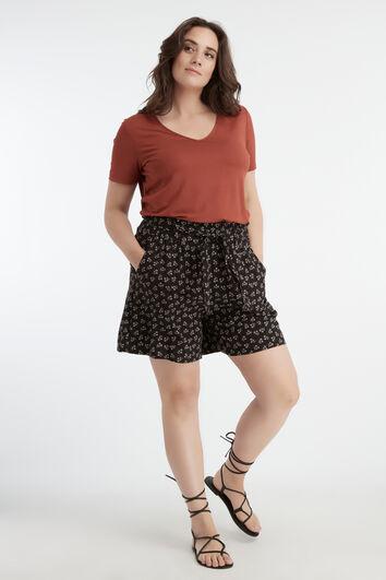 Viskose-Shorts mit Print