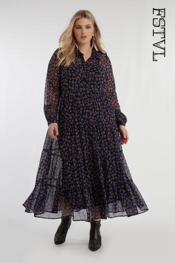 Shirt-Kleid mit Print