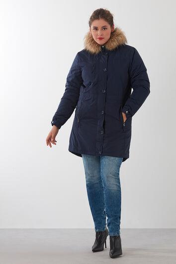 Parka-Mantel mit Kapuze