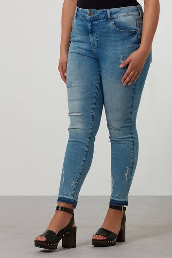 Slim-Leg Jeans im Used-Look