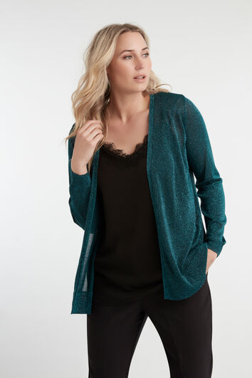 Lurex-Cardigan
