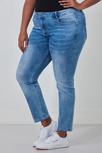 Jeans mit schmalen Beinen