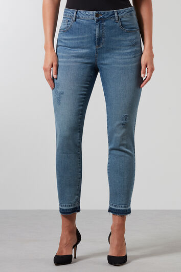 Super Skinny Jeans mit Used-Look