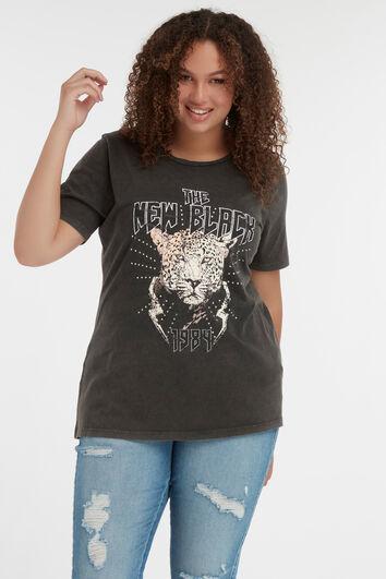 T-Shirt mit Fashion-Print