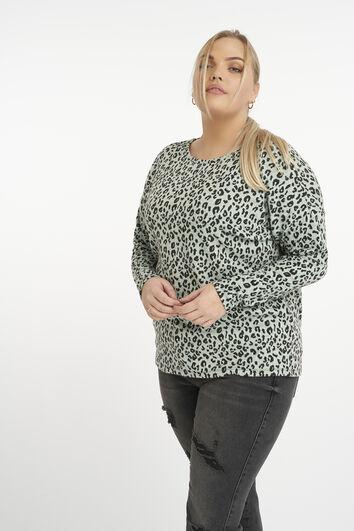 Pullover mit Animal-Print