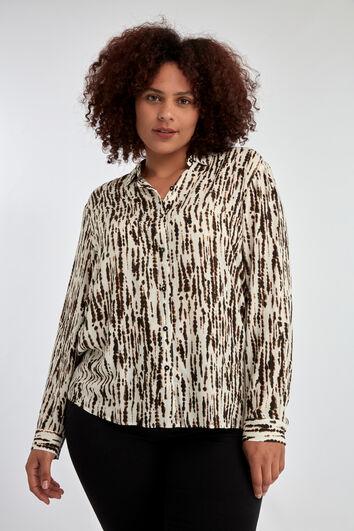 Bluse mit Print und Lurex-Element