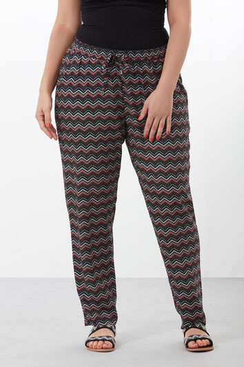 Strand-Hose mit Allover-Print