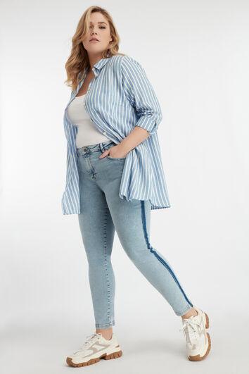 Gestreifte Jeans