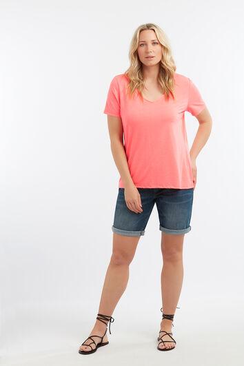 Basic T-Shirt mit kurzen Ärmeln
