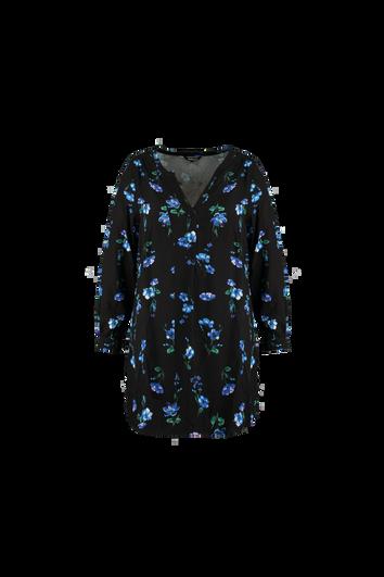 Tunika-Bluse mit Blumendruck