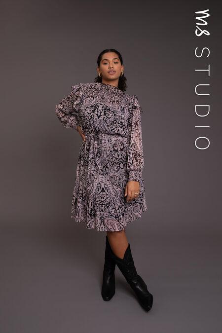Kleid mit Smockdetail