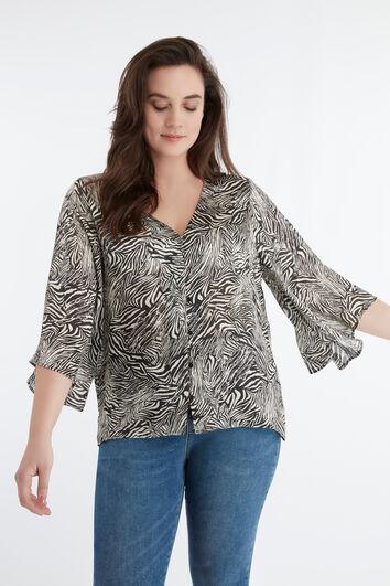 Zebra-Bluse