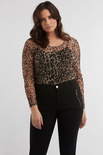 Top mit Animal-Print