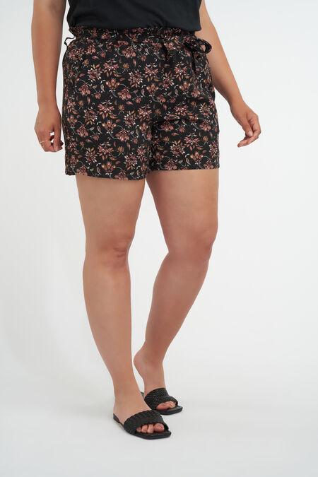 Viskose-Shorts mit Gürtel