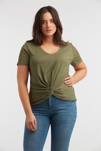 T-Shirt mit Knopf