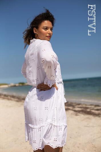 Kurzes Kleid mit Print