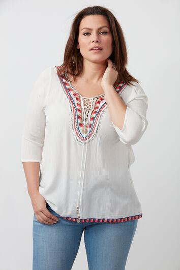 Bluse mit Perlen-Verzierung