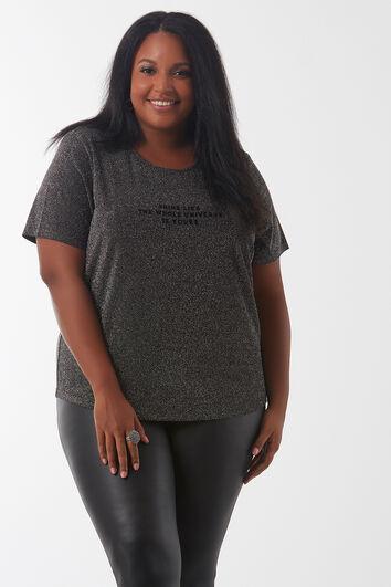 T-Shirt mit Lurex-Fäden