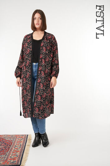 Kimono mit Paisley-Print