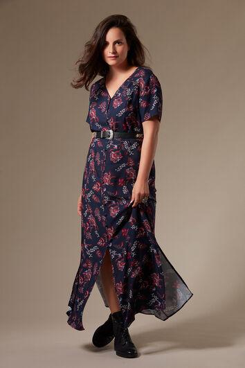 Kleid im Button-down-Stil mit Allover-Print