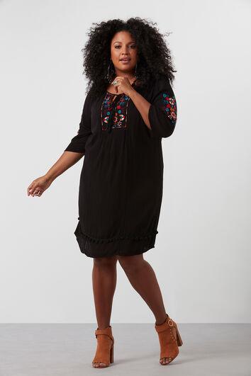 Kleid im Knitter-Look