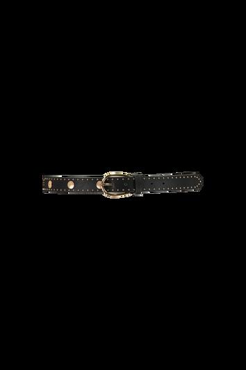 Kunstleder-Gürtel mit goldenen Details